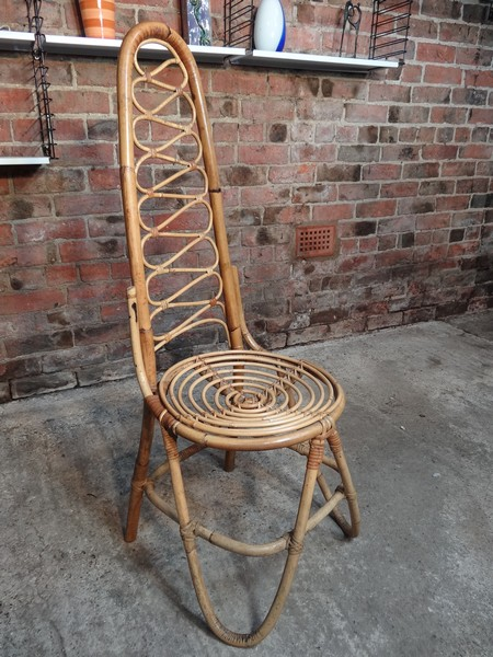 1960s cane / bamboo designer Chair (price on request)