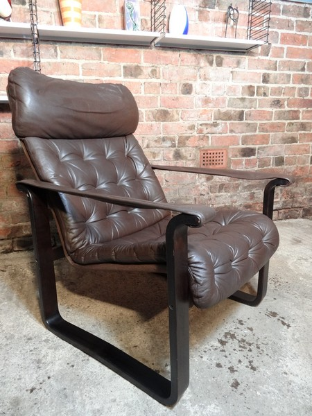Finisch Dahlqvist A.B. brown leather Armchair (price on request)
