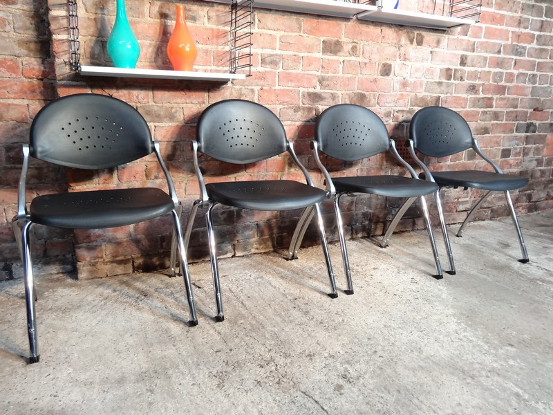 4x Italian Cazzaro S.P.A. designed chairs