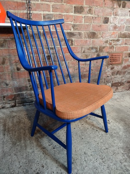 **SOLD**1960s design Lena Larsson for Nesto Pastoe retro blue Chair