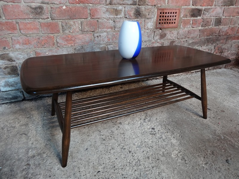**sold**1960's Ercol rack stained elm/beech  coffee table