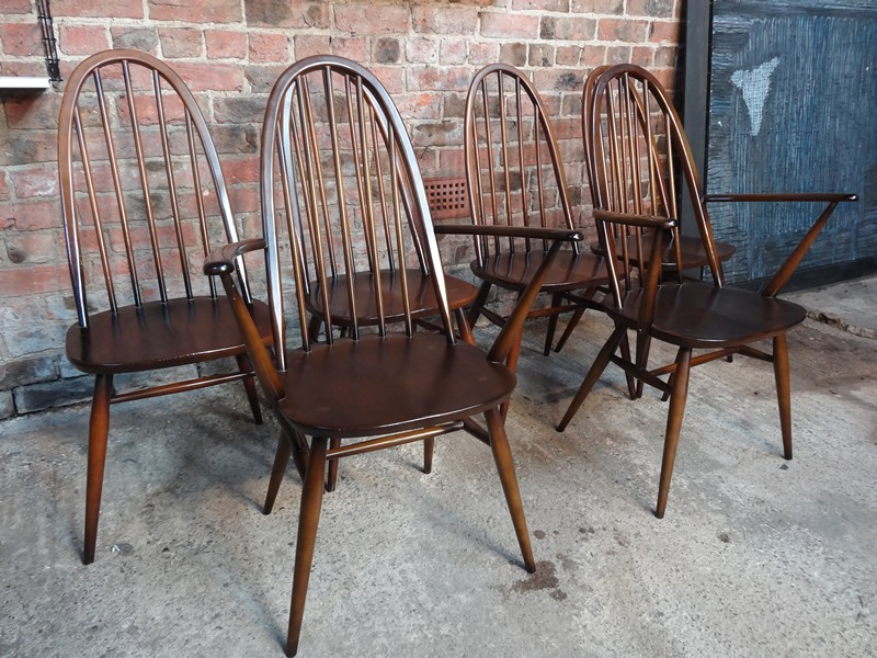 **SOLD**Set of 6 Ercol dining chairs