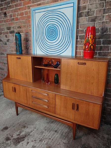 Teak danish design Koford Larsen high sideboard