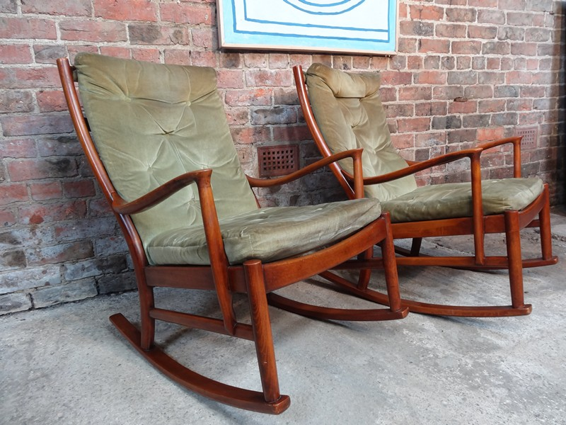 Organically shaped 1950s rocking chair ONLY 1 AVAILABLE