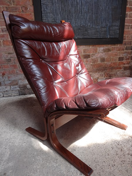 1970's Danish Ingmar Relling brown leather arm chair (R2)