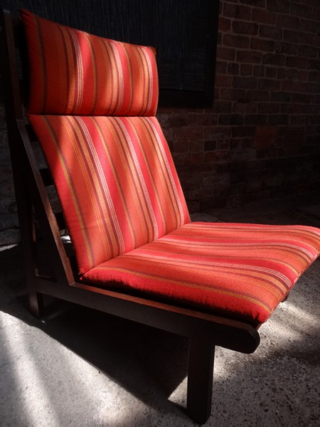 1968 Vintage danisch Bernt Petersen  ''The Rag'' orange fabric chair