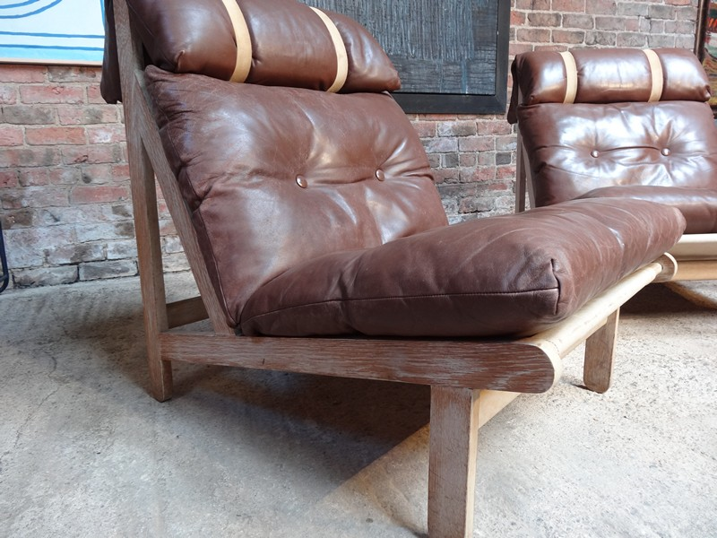 Leren relaxstoel interesting fauteuil reflex in cognac for Vintage leren stoel