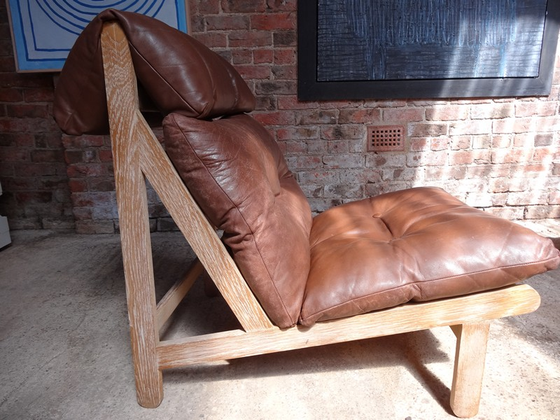 **SOLD**1968 Vintage danisch Bernt Petersen  ''The Rag''chair, price is for the two leather chairs!