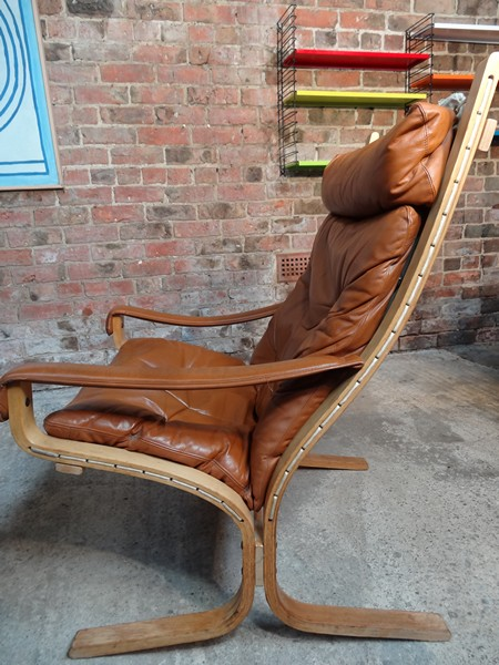 **SOLD**1970's Danish Ingmar Relling brown leather arm chair (R3)
