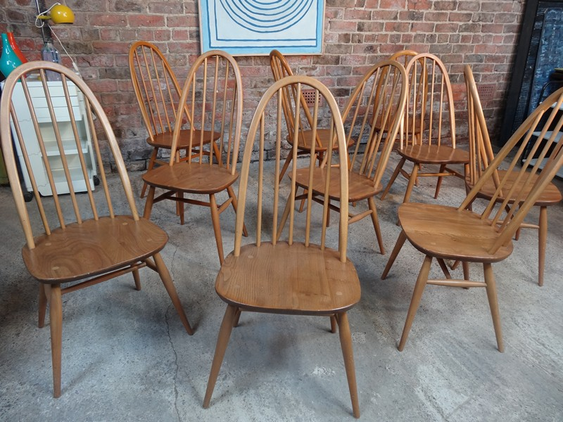 Large Ercol Quaker 10 chairs