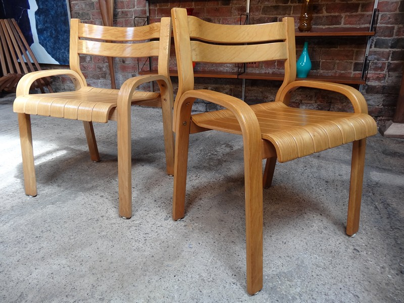 two bendwood chairs