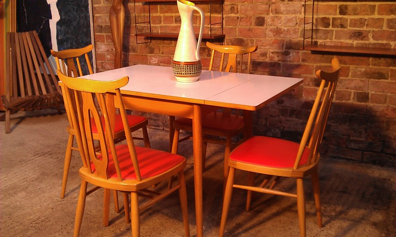 **SOLD**Danish 1950s Table and 4 Chairs