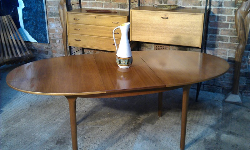 **SOLD**Large English extendable oval teak table