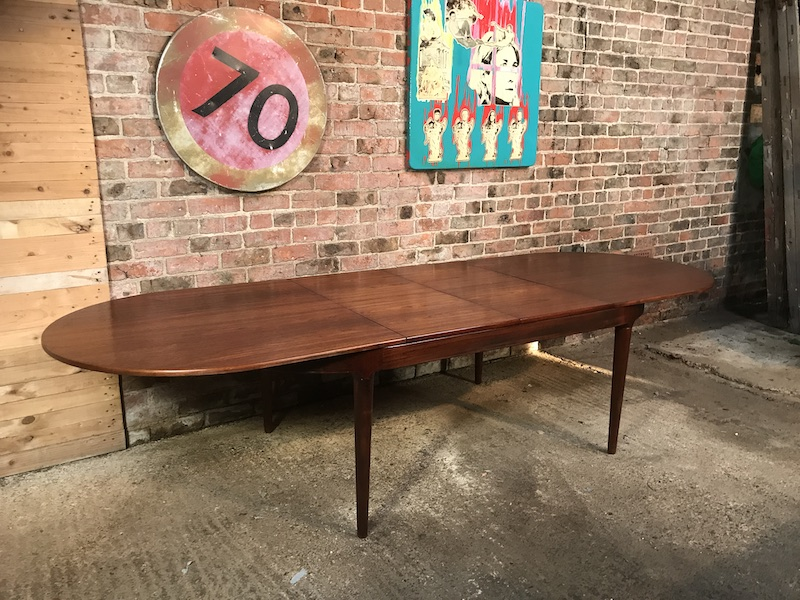 Stunning XXL Arne Hovmand-Olsen for Mogens Kold Danish Modern Teak Extension Dining Table