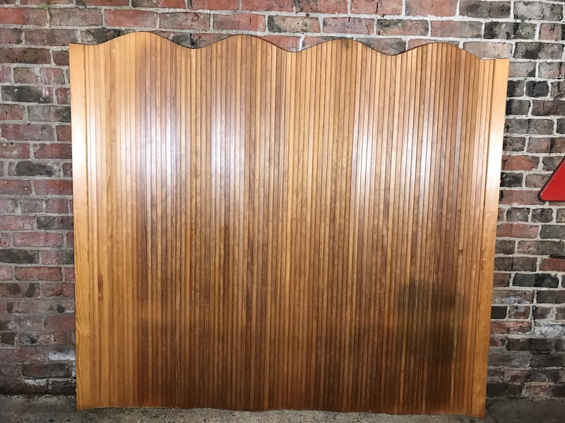 SOLD - Screen 100 Vintage 1960 Pinewood Tambour Room Divider designed by Alvar Aalto