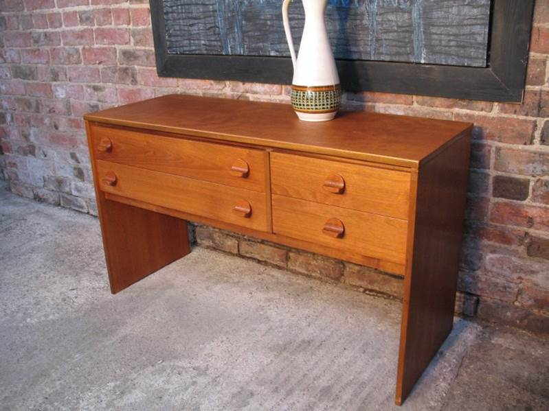 Small Teak Sideboard / hall table / desk