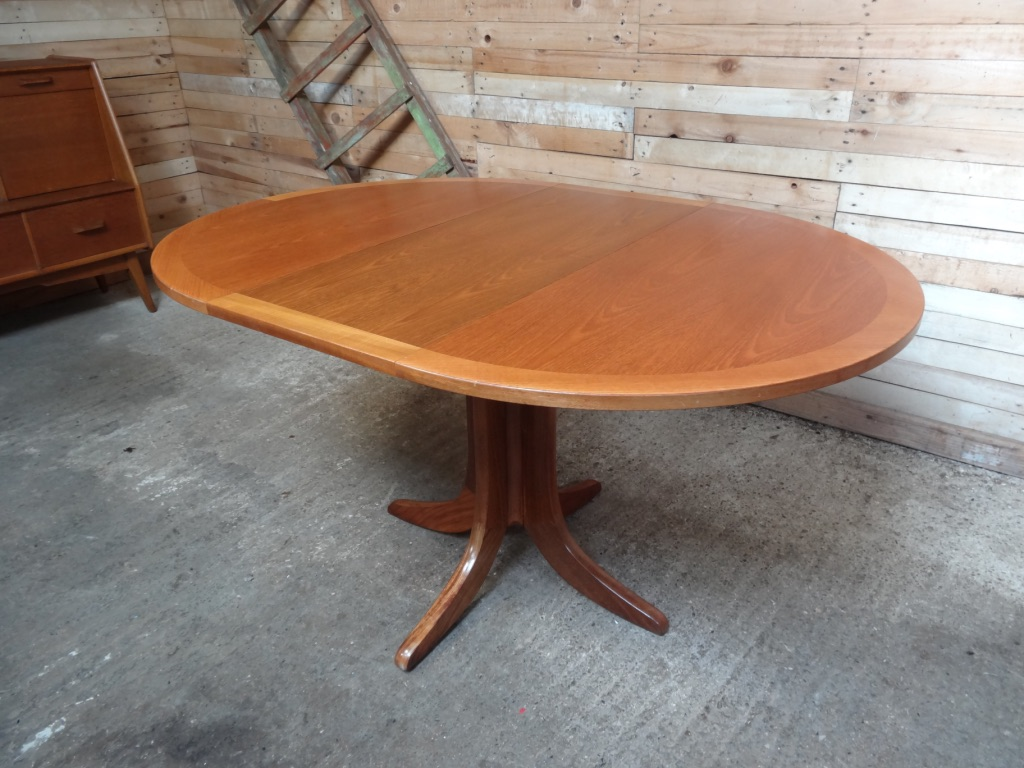 Danish extendable teak table on x legs