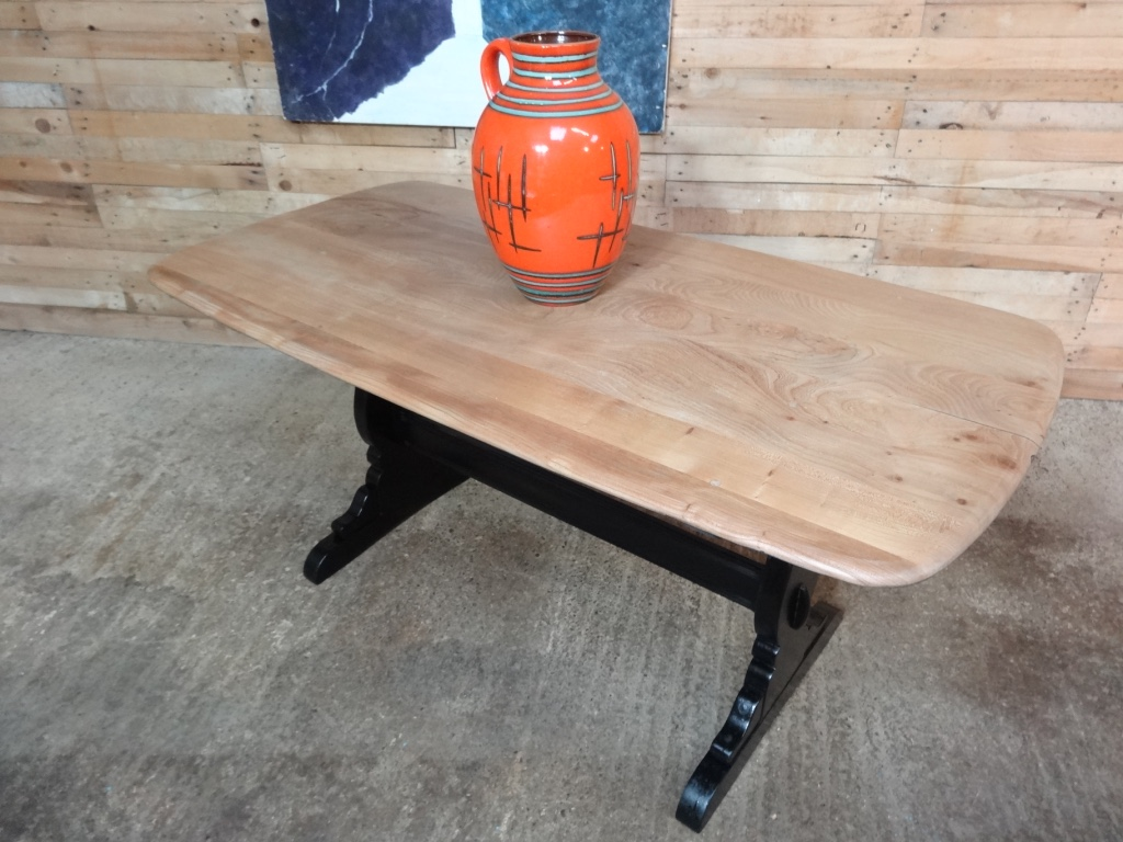 Ercol Dining table with Ebonized base
