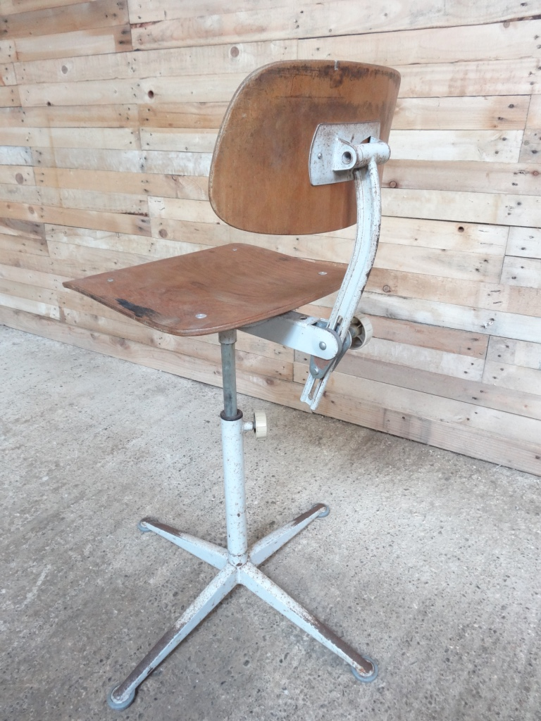 Original industrial metal chair