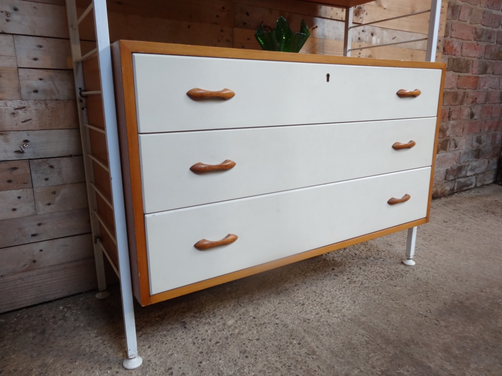 Metal framed teak / painted wall Unit / room devider