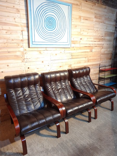 Sought after Ingmar Relling Reclining Orbit chairs  by A/S Vestlandske møbelfabrik