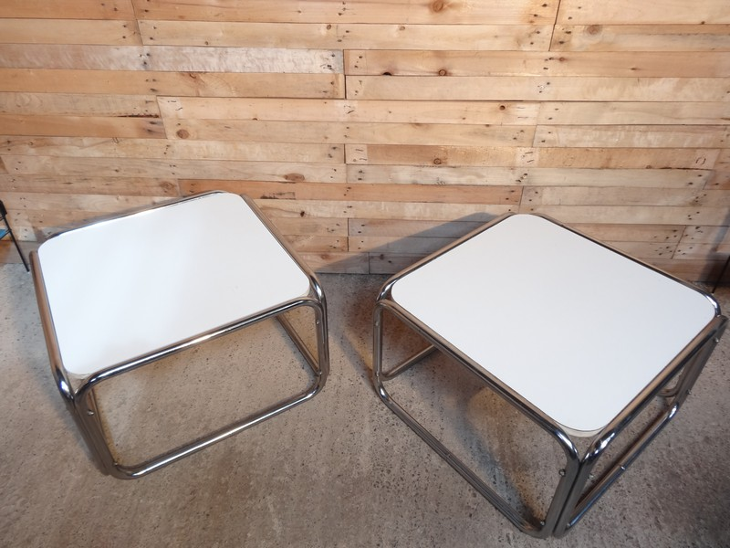 **SOLD** 1960's chrome / white cube coffee table (price on request)