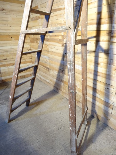 1900's French vintage fruit picking / painting ladder (A) (Price on request)