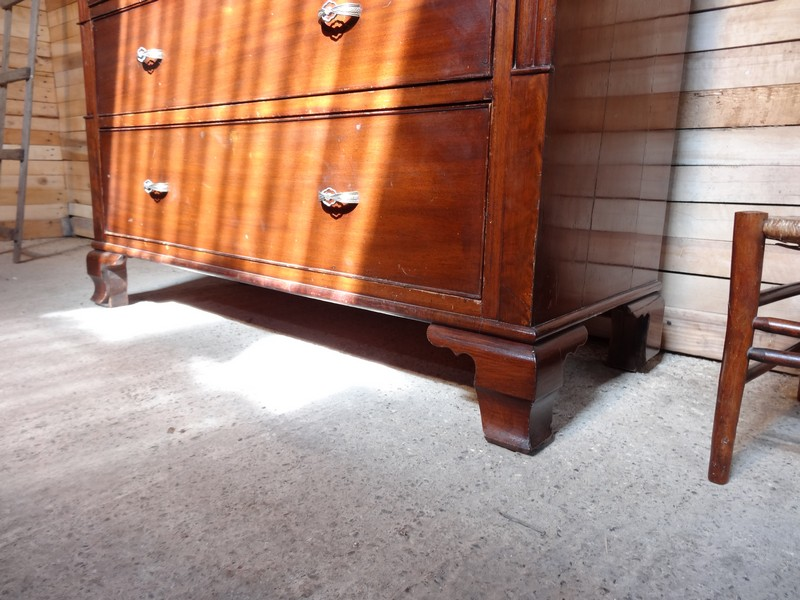 **SOLD**ca 1850 English Victorian large Chest of drawers with secret draw