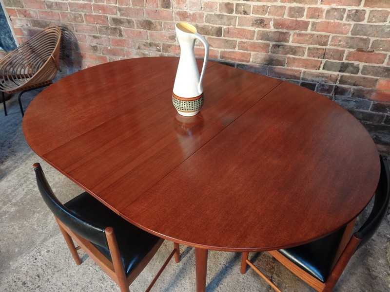 **SOLD**4 English Mcintosh Chairs and teak (extendable) table