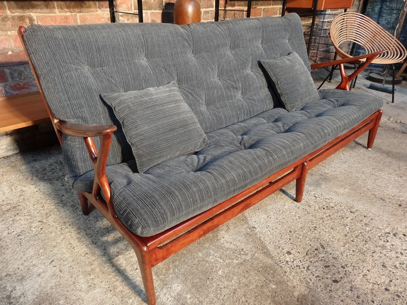sold - 1950's Danish designer 3 seater sofa