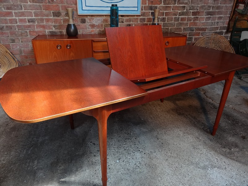 **SOLD**Extra Large Teak Mcintosh extendable table