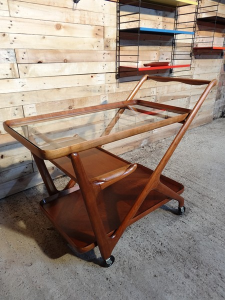 SOLD - exquisite Cesare Lacca for Cassina teak drinks stand / trolley (price on request)