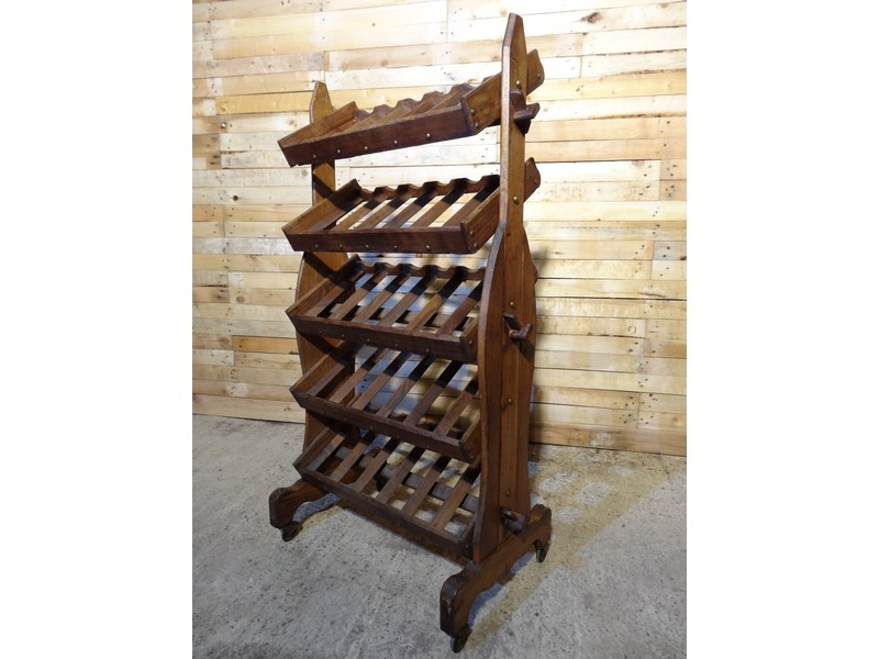 Ca 1900's antique wine rack on wheels