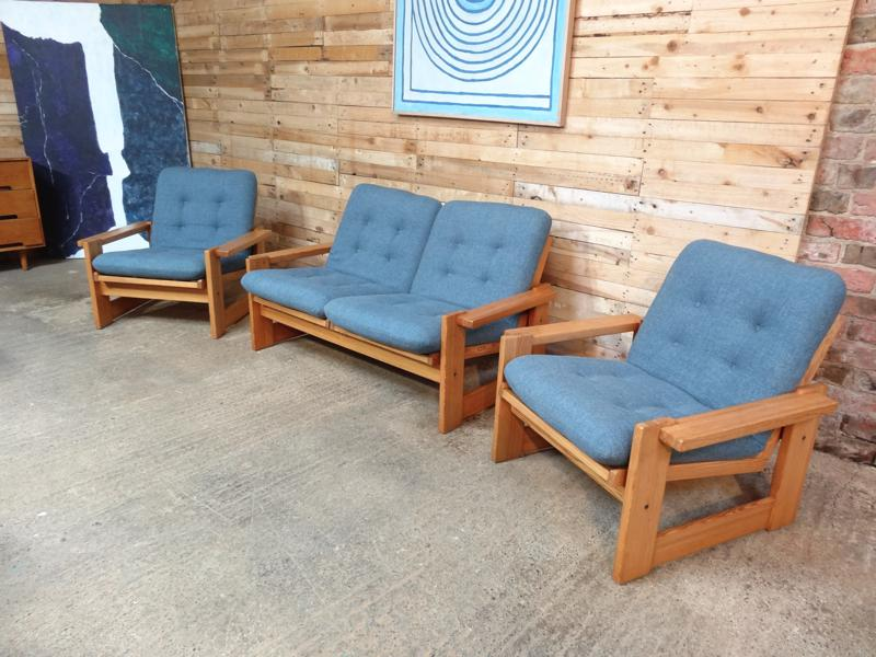 SOLD - Vintage Dutch Pastoe two seater sofa and two chairs (price on request)