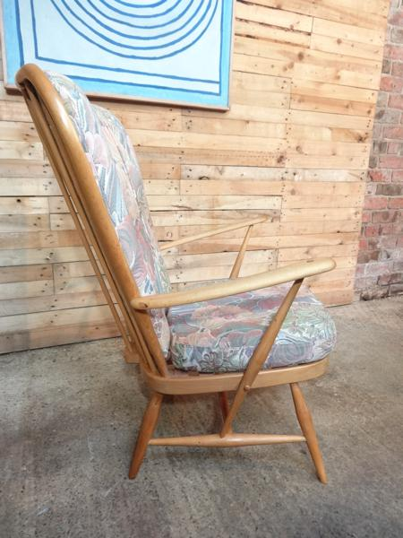 2 Ercol Fireside Armchairs - Blond Windsor Grandfather Easy Chairs