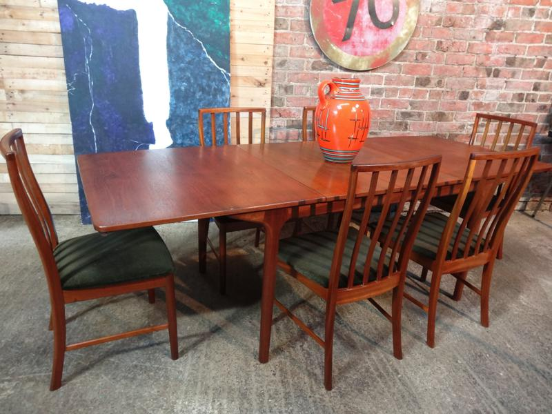 SOLD - Teak Mcintosh Chairs 6x