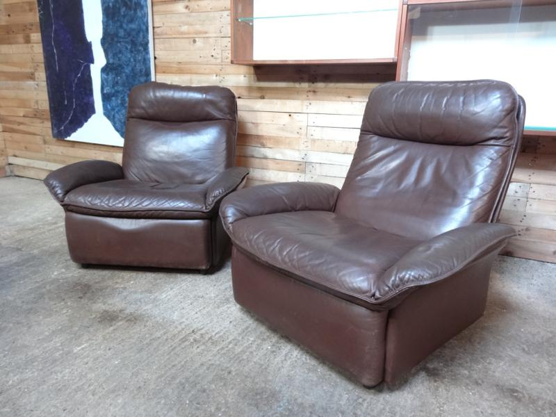 SOLD - Vintage De Sede leather arm chairs (price on request)