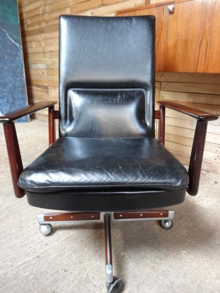 **SOLD**Arne Vodder Rosewood and Leather Office / Desk Chair