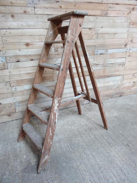 **SOLD**1900's French vintage fruit picking / painting ladder (D) (Price on request)
