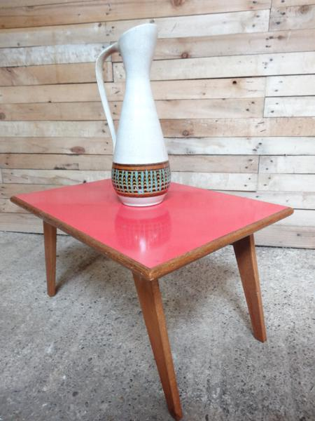 1950's red melamine top table