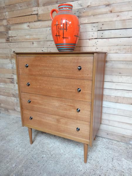 **sold**1960's teak chest of drawers  in mint cond