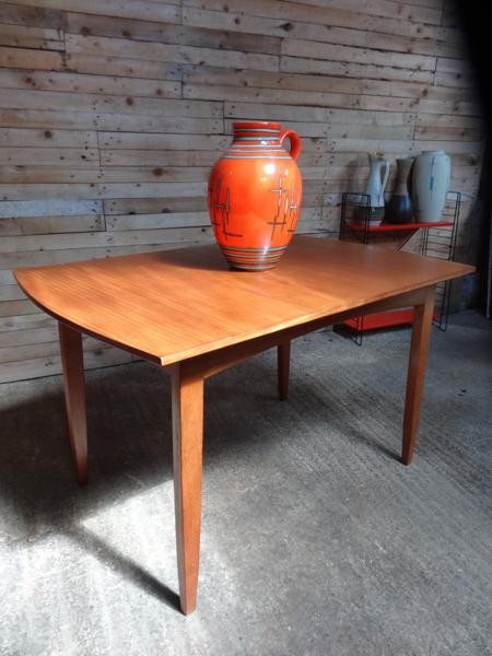 SOLD - English extendable teak table