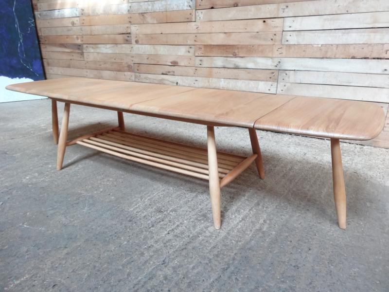 SOLD - 1960's Ercol dropdown ladder rack elm/beech  coffee table (price on request)