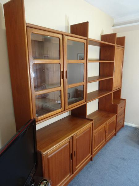 SOLD - Sought After Vintage Original Danish XXXL Dyrlund Teak Wall Unit