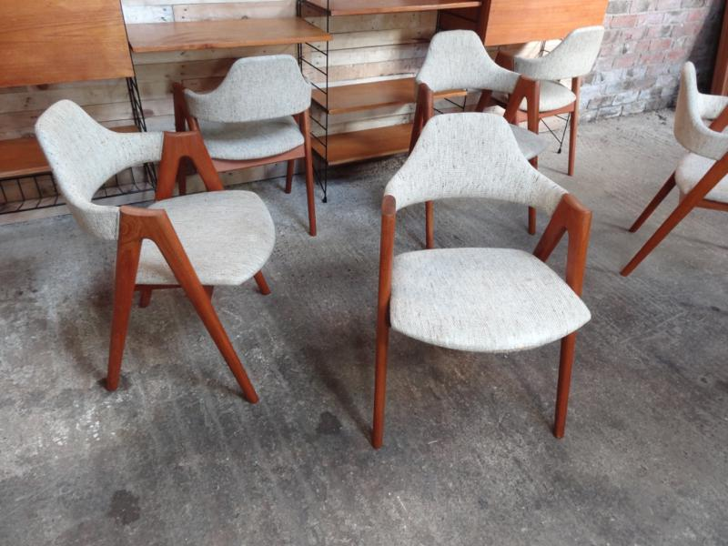 **SOLD**6 Danish Dyrlung arm Chairs