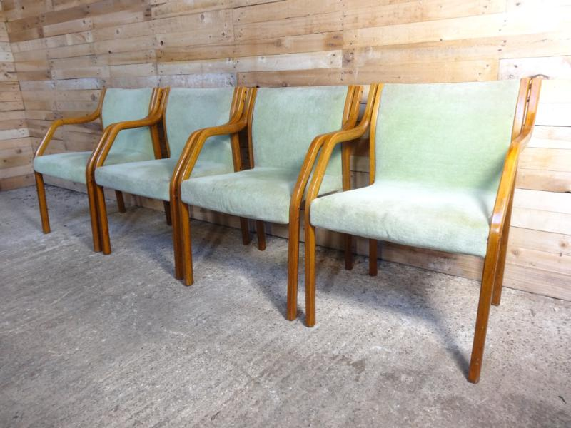 4x early 1950's Preben Fabricius for Knoll dining chairs