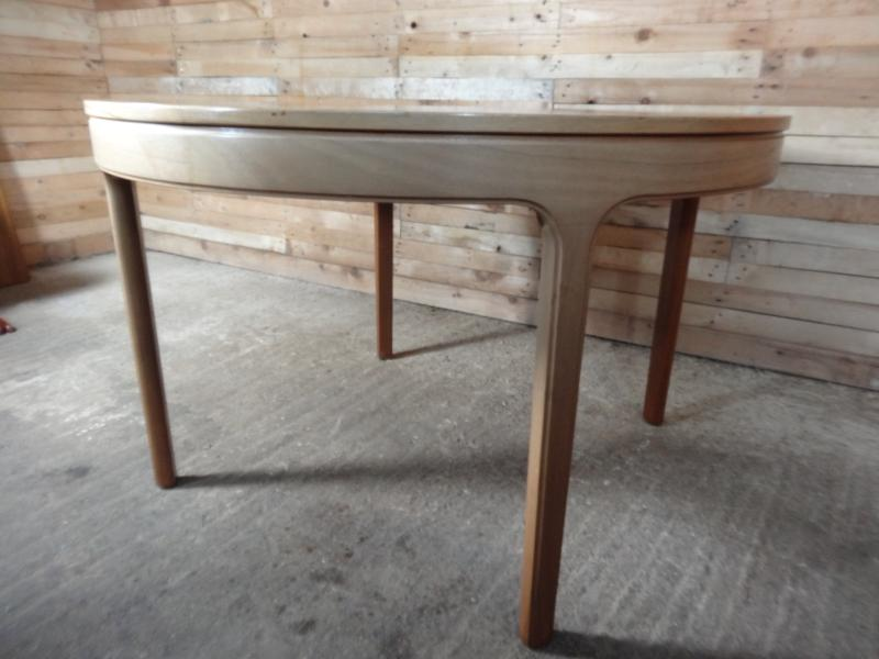 SOLD - English round extendable teak table