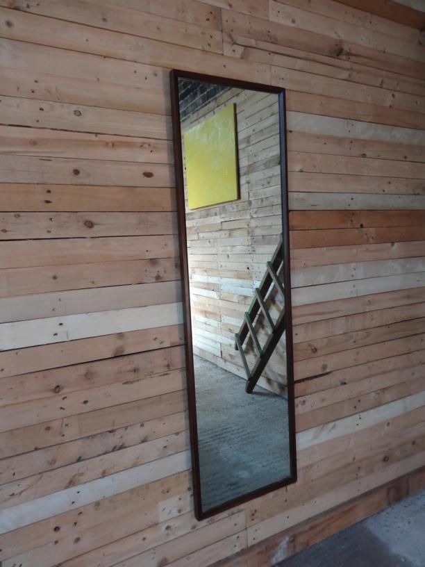 1960 large vertical teak mirror