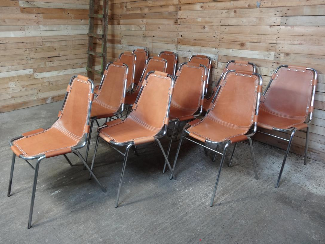 12 Charlotte Perriand Chairs For Les Arcs 1960