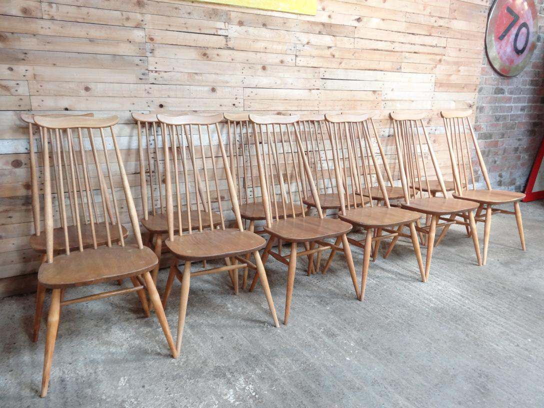 8 Ercol Windsor Goldsmith Chairs